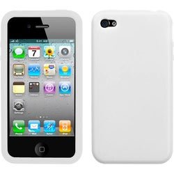 INSTEN Solid White Skin Phone Case Cover for Apple iPhone 4S/ 4