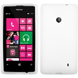 INSTEN Solid White Skin Phone Case Cover for Nokia 521/ Lumia