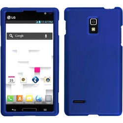 INSTEN Titanium Solid Dark Blue Protector Phone Case Cover for LG P769 Optimus L9