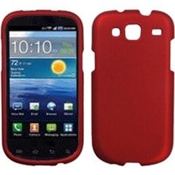 INSTEN Titanium Solid Red Phone Case Cover for Samsung I425 Galaxy Stratosphere 3