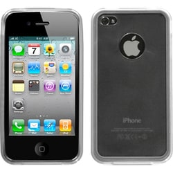 INSTEN Transparent Smoke/ Clear Gummy Phone Case Cover for Apple iPhone 4/ 4S