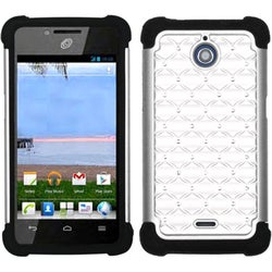 INSTEN White/ Black TotalDefense Phone Case Cover for Huawei H881C Ascend Plus
