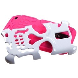 INSTEN White/ Pink Skullcap Phone Case Cover for Samsung T989 Galaxy S2