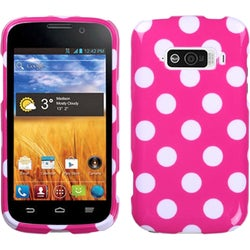 INSTEN White Dots/ Hot Pink Solid Skin Phone Case Cover for ZTE N9101 Imperial