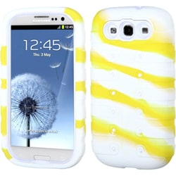 INSTEN White/ Camo Stripe TUFF Phone Case Cover for Samsung Galaxy S III i747