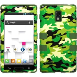 INSTEN Woodland Camo/ Army Green TUFF Phone Case Cover for LG P769 Optimus L9