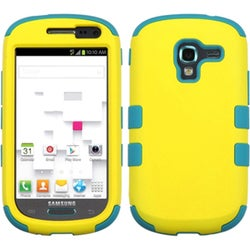 INSTEN Yellow/ Tropical Teal TUFF Phone Case Cover for Samsung T599 Galaxy Exhibit