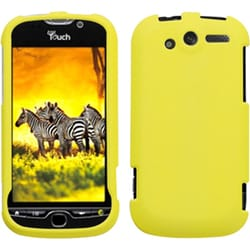 INSTEN Rubberized Yellow Phone Protector Phone Case Cover for HTC Mytouch 4G
