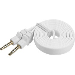 INSTEN White Noodle Audio Cable with 3.5-mm Plug