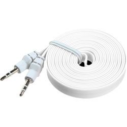 INSTEN 6-foot White Noodle Audio Cable