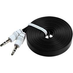 INSTEN 6-foot Black Noodle Audio Cable