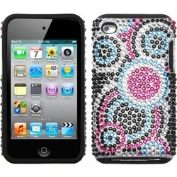 INSTEN Bubble/ Diamante Fusion iPod Case Cover for Apple iPod touch 4