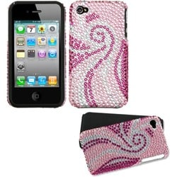 INSTEN Phoenix Tail Diamante Fusion Phone Case Cover for Apple iPhone 4S/ 4