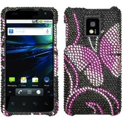 INSTEN Fairyland Butterfly/ Diamante Phone Case Cover for LG P999 G2X