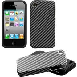 INSTEN Lizzo/ Racing Fiber Fusion Phone Case Cover for Apple iPhone 4S/ 4