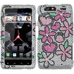 INSTEN Fantastic Flowers Phone Case Cover for Motorola XT912M Droid Razr Maxx