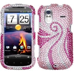 INSTEN Phoenix Tail Diamante Phone Case Cover for HTC Amaze 4G