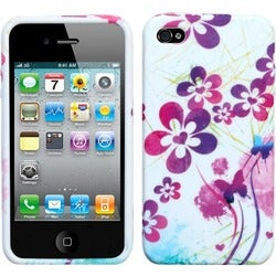 INSTEN Artistic Flowers Phone Case Cover for Apple iPhone 4S/ 4