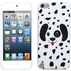 Insten White/ Black Dotted Dalmatian TPU Rubber Candy Skin Glossy Case Cover For Apple iPod Touch 5th/ 6th Gen