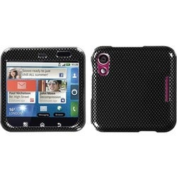 INSTEN Carbon Fiber Phone Case Cover for Motorola MB511 Flipout