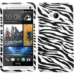 INSTEN Zebra Skin Phone Case Cover for HTC One M7