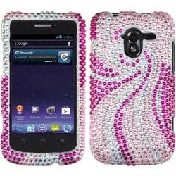 INSTEN Phoenix Tail/ Diamante Phone Case Cover for ZTE N9120 / Avid 4G
