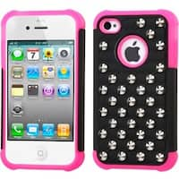 INSTEN Lattice Dazzling TotalDefense Phone Case Cover for Apple iPhone 4S/ 4