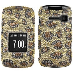 INSTEN Leopard Skin/ Camel Diamante Phone Case Cover for Kyocera C2150