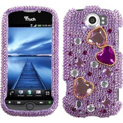 INSTEN Love Crash Diamante Phone Case Cover for HTC myTouch 4G Slide