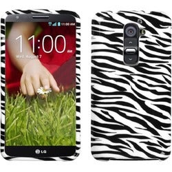 INSTEN Zebra Skin Phone Case Cover for LG D801 Optimus G2