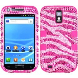 INSTEN Diamante TUFF Hybrid Phone Case Cover for Samsung T989 Galaxy S2 S II