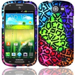 INSTEN Colorful Leopard Rubberized Matte Hard Plastic PC Snap-on Phone Case Cover for Samsung Galaxy Express