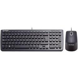 Viewsonic USB Keyboard and Mouse Bundle, Spanish keyboard, Black