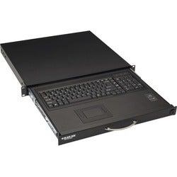 "Black Box Rackmount Keyboard with Touchpad - 17.4""W X 15.75""D"