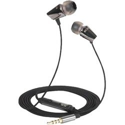 808 EQ Noise-Isolating Earbuds with Inline Mic - Black