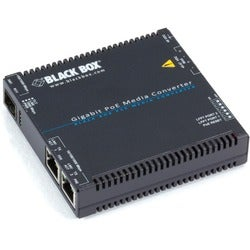 Black Box Gigabit PoE Media Converter, 10/100/1000BASE-T to SFP