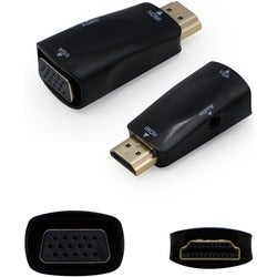 AddOn 5-Pack of HDMI 1.3 to VGA Male to Female Black Active Adapters