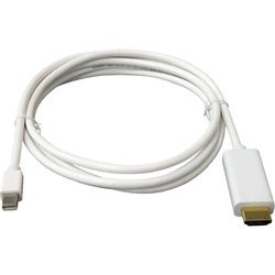 Unirise 15ft Mini Displayport to HDMI Cable, Male - Male, 32 AWG