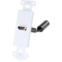 C2G RapidRun HDMI Decorative Style Wall Plate Transmitter - White
