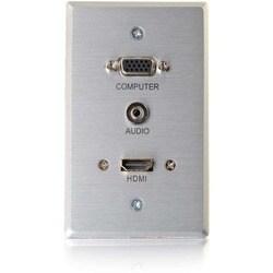 RapidRun HDMI Single Gang Wall Plate Transmitter with VGA + Stereo Au