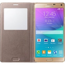 Samsung S-View Carrying Case (Flip) for Smartphone - Golden Bronze