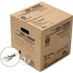 Steren UTP Plenum Category-6 Bulk Cable