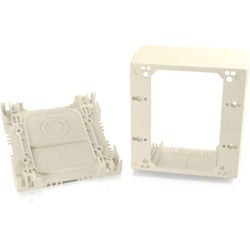 C2G Wiremold Uniduct Double Gang Extra Deep Junction Box - Ivory