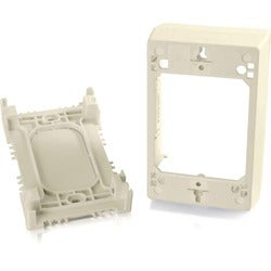 C2G Wiremold Uniduct Single Gang Deep Junction Box - Ivory
