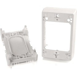 C2G Wiremold Uniduct Single Gang Deep Junction Box - White