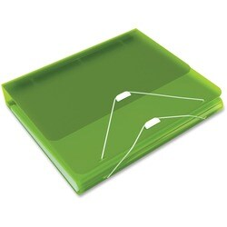 Samsill DUO 2-in-1 Organizer - Binder + Expanding File-Green