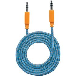 Manhattan 3.5mm Stereo Male to Male, Blue/Orange, 1 m (3 ft.)