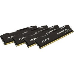 Kingston HyperX Fury Memory Black - 16GB Kit (4x4GB) - DDR4 2400MHz