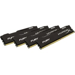 Kingston HyperX Fury Memory Black - 32GB Kit (4x8GB) - DDR4 2666MHz