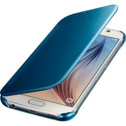 Samsung S-View Carrying Case (Flip) for Smartphone - Clear Blue